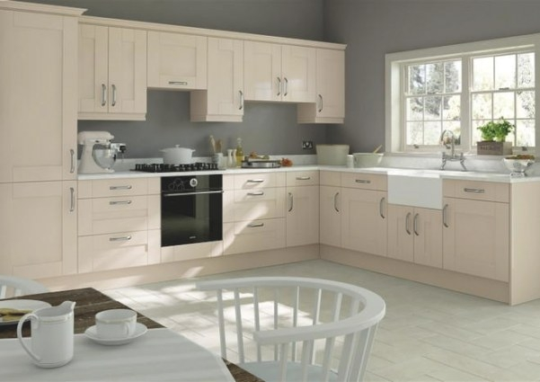 Arlington Beige Kitchen Doors | Made To Measure From £3.19 inside White And Beige Kitchen