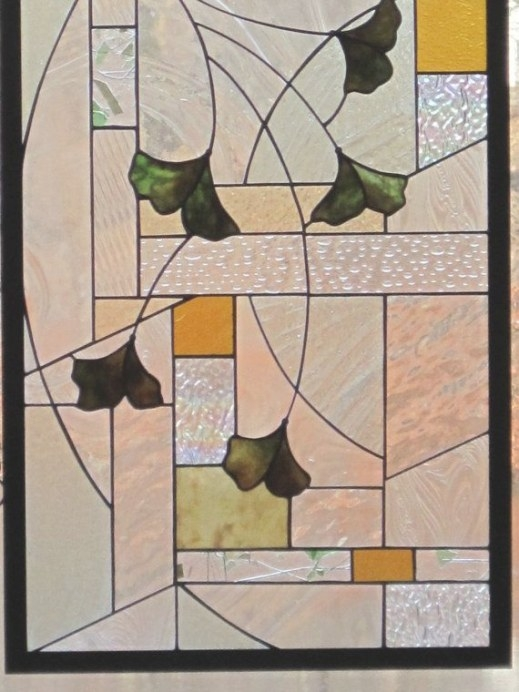 Arts And Crafts Style Stained Glass Gingko within Craftsman Stained Glass Panel Collection