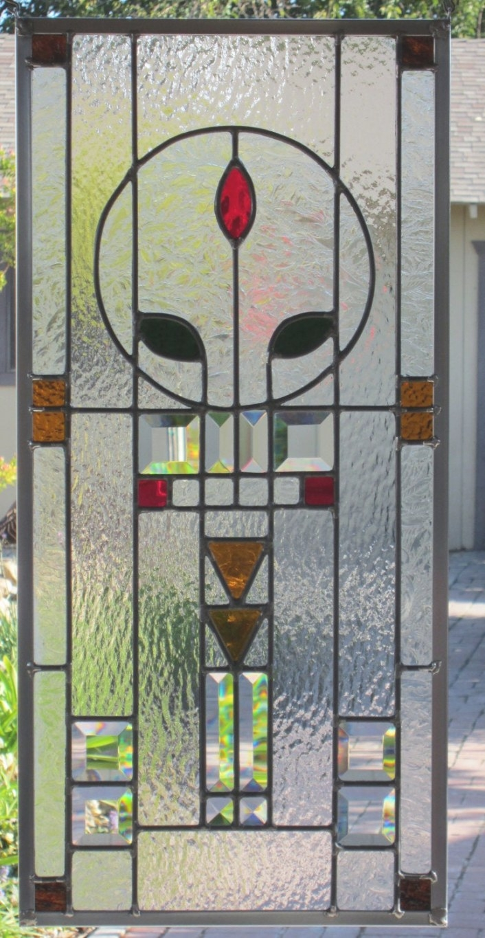 Arts And Crafts Style Stained Glass Windowdebsglassart regarding Craftsman Stained Glass Panel Collection