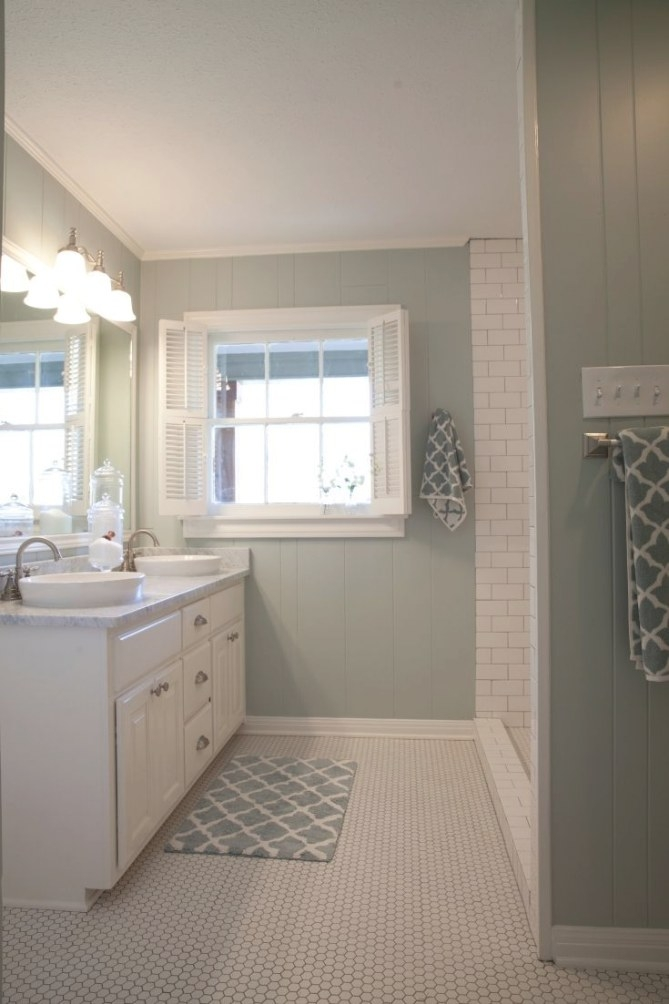 As Seen On Hgtv'S Fixer Upper. This Is How We Should Do in Crown Moulding In Bathroom