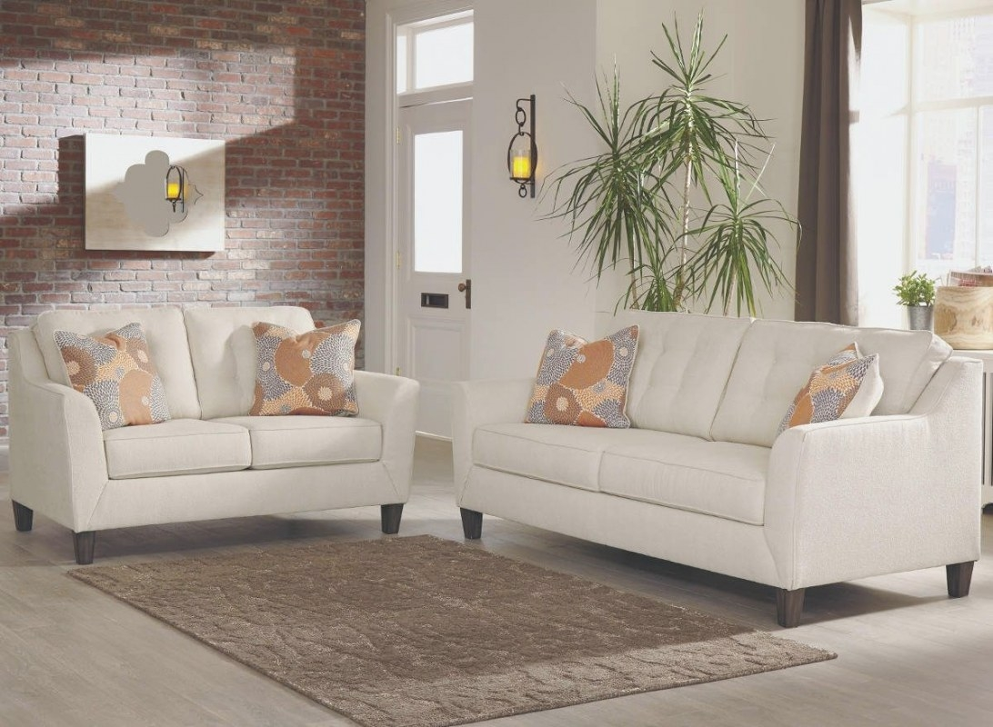 Ashley Benissa 41702 2-Piece Living Room Set In Alabaster throughout Is Ashley Furniture Good Quality
