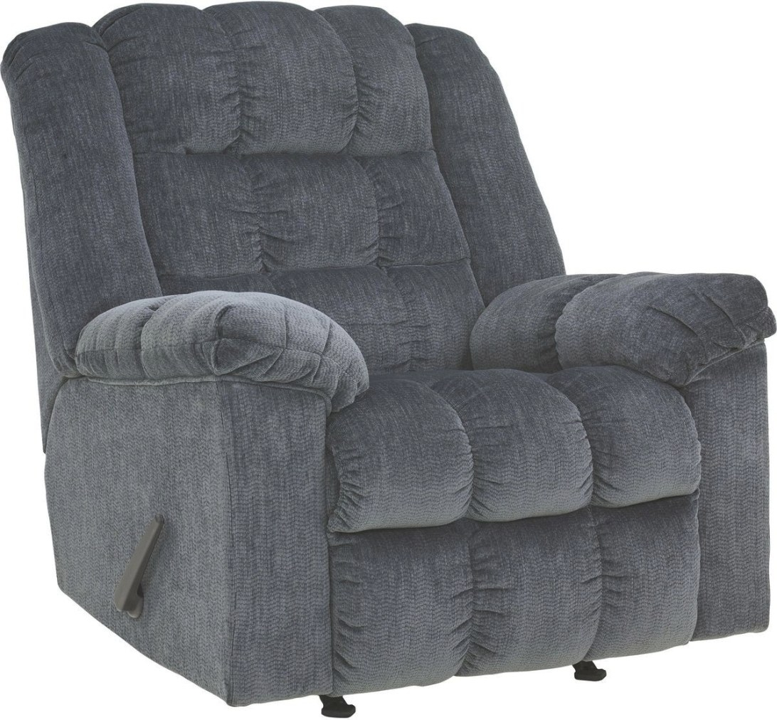 Ashley Furniture Ludden Rocker Recliner In Blue | Best inside Is Ashley Furniture Good Quality