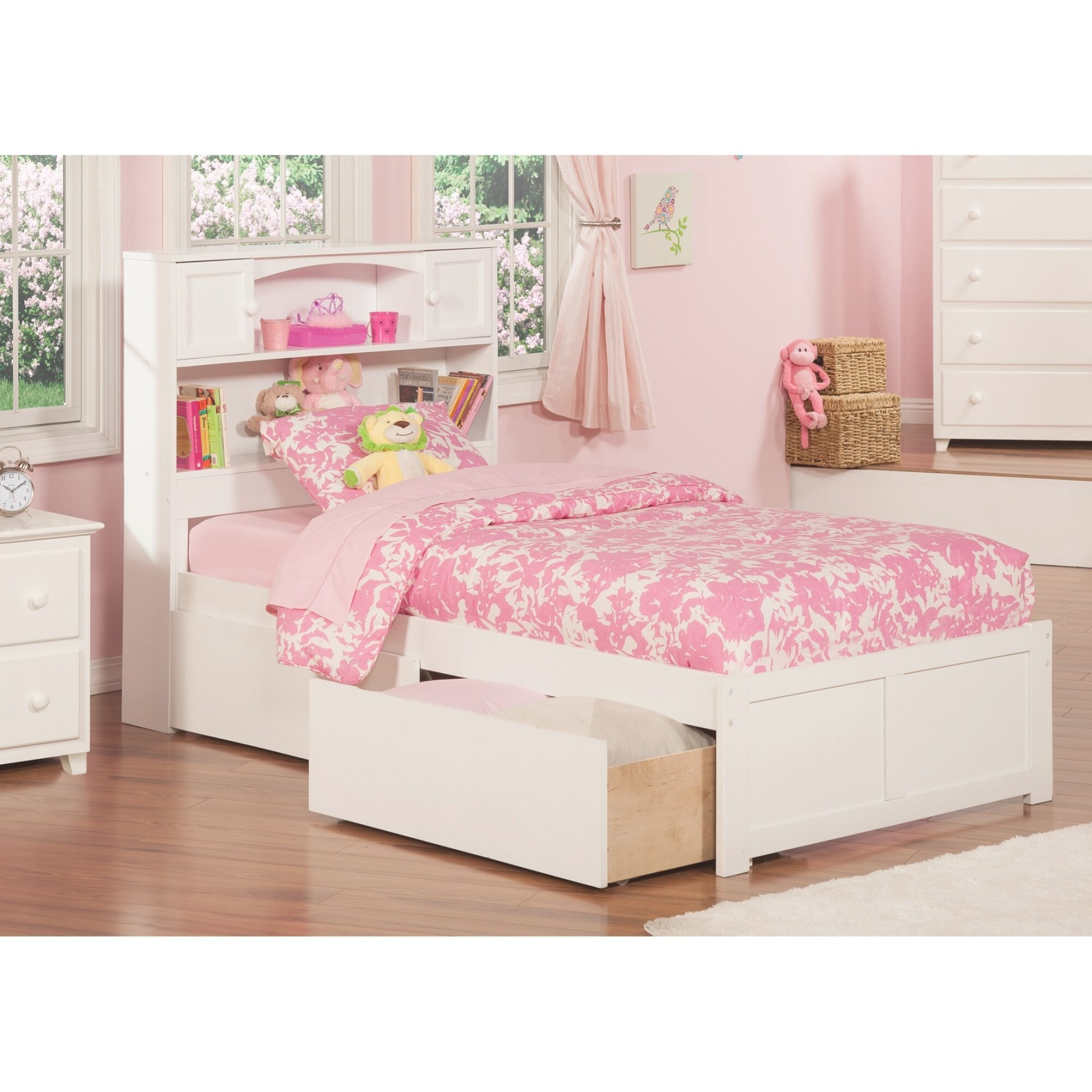 Atlantic Furniture Newport Extra Long Twin Platform Bed regarding Extra Long Twin Bed