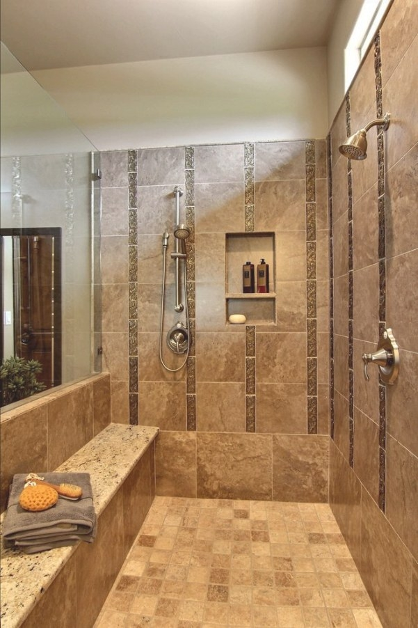 Austin Walk In Shower With Bench Bathroom Traditional Tile within Walk In Shower With Bench
