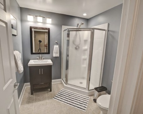 Basement Bathroom | Houzz with regard to 3/4 Bathroom Layout