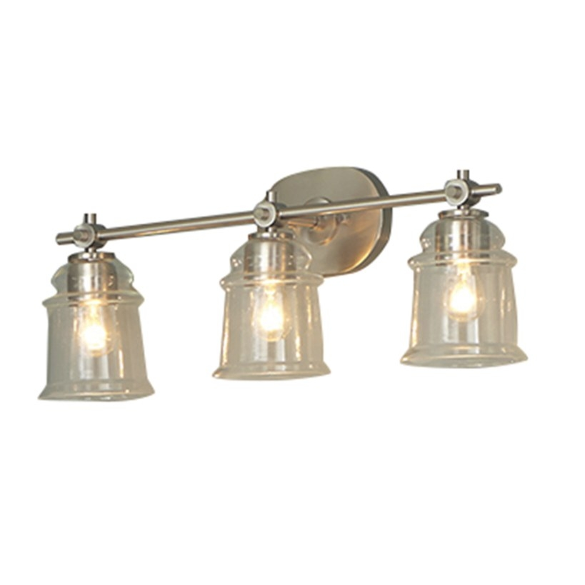 Bathroom Bathroom Vanity Lights Lowes Light Brushed Nickel throughout Bathroom Vanity Lights Brushed Nickel