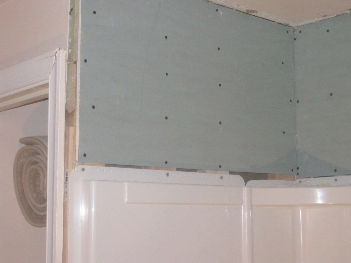 Bathroom - How To Tile Over Shower Wall Surround Flange with Green Board In Bathroom
