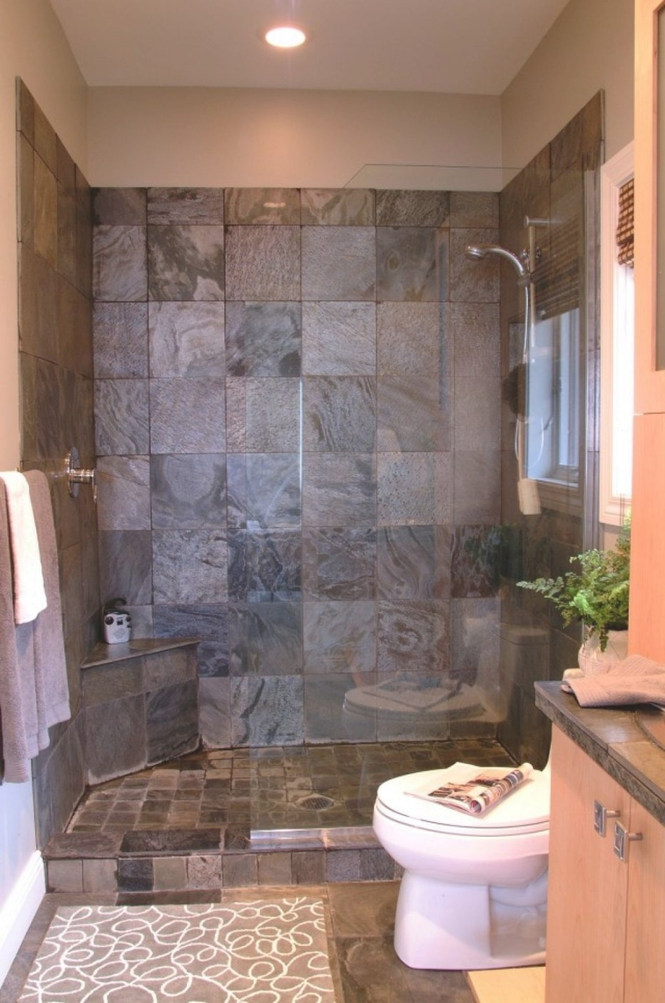 Bathroom , Ideas Of Doorless Walk In Shower For Small intended for ** In Small Bathroom