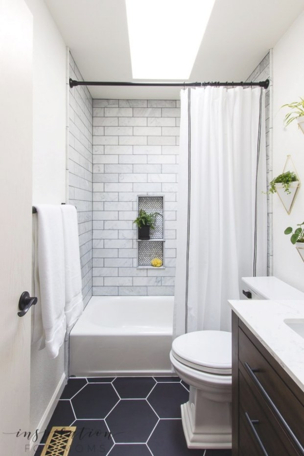 Bathroom Remodel With Modern Fixtures From Delta with regard to Images Of Small Bathrooms