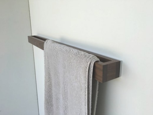 Bathroom Towel Rack Walnut-White Modern Towel Rack | Etsy with regard to Towel Racks For Small Bathrooms