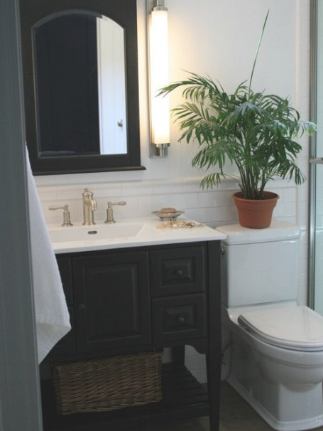 Beach Cottage Bathroom Home Design Ideas, Pictures with 3/4 Bathroom Layout