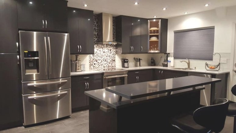 Beautiful Black Kitchen Cabinets (Design Ideas within Black Kitchen Cabinets Small Kitchen
