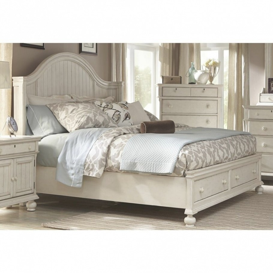 Bed Frame With Storage Platform Queen King Size Coastal pertaining to Queen Bed With Storage