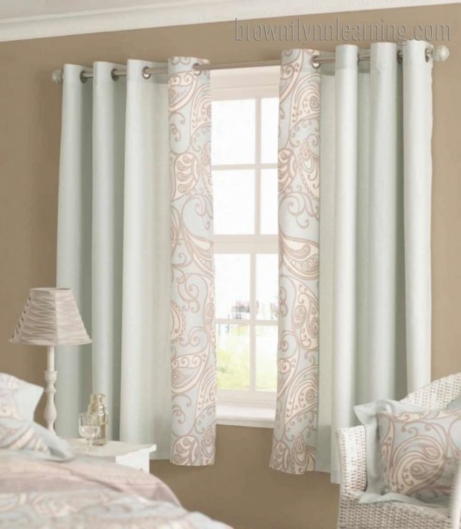 Bedroom Window Curtains Short Homeminimalis | Small Window inside Curtain Designs For Bedroom