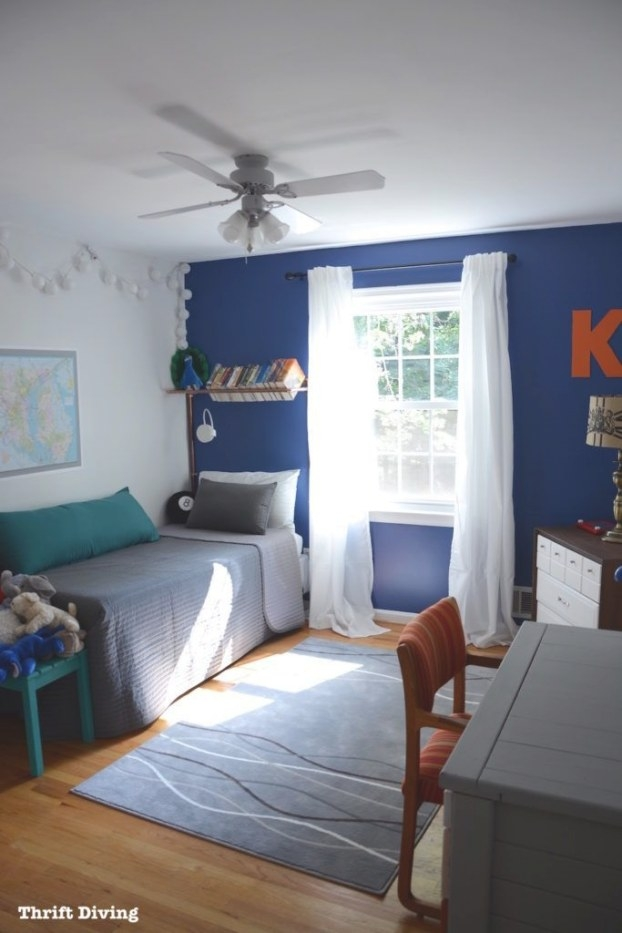 Before & After: Boy'S Blue Accent Wall Bedroom Makeover inside Pictures Of Boys Bedrooms