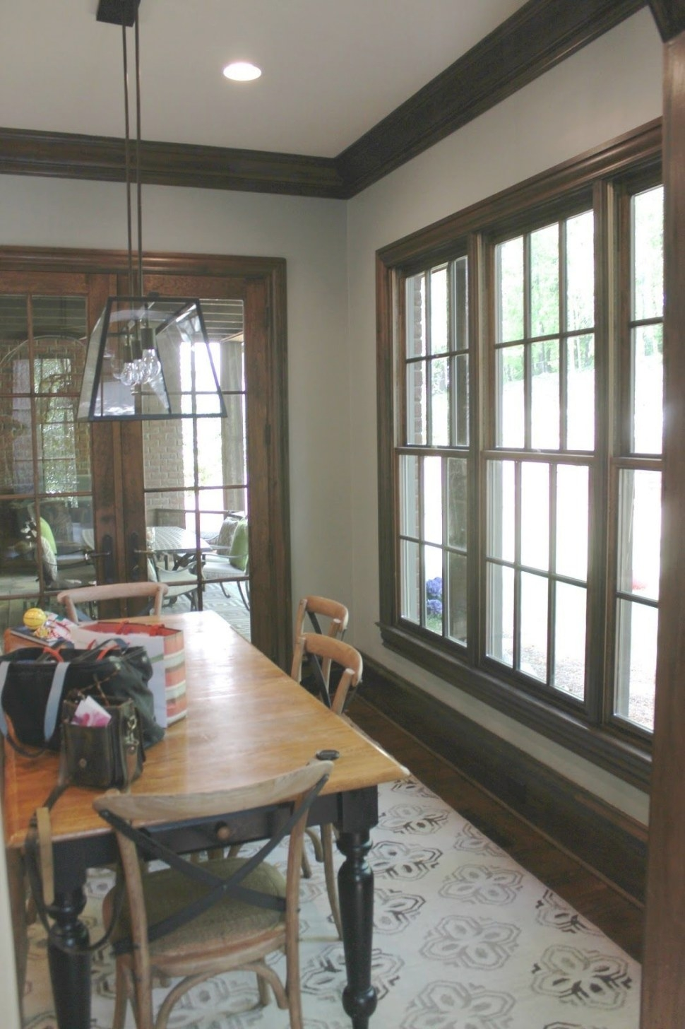 Before And After | Dark Wood Trim, Paint Colors For Living in Best Paint For Trim
