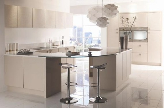 Beige And Creamy White Kitchen Colors, Latest Trends In for White And Beige Kitchen
