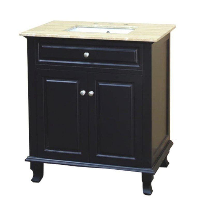 Bellaterra Home 32-In Ebony Single Sink Bathroom Vanity regarding 32 Inch Bathroom Vanity
