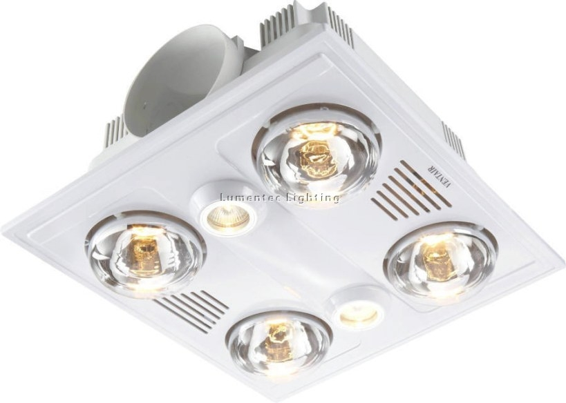 Bl0015 Garrison 4 - 4 Light 3 In 1 Bathroom Heat Exhaust 4 throughout Heat Lamps In Bathrooms