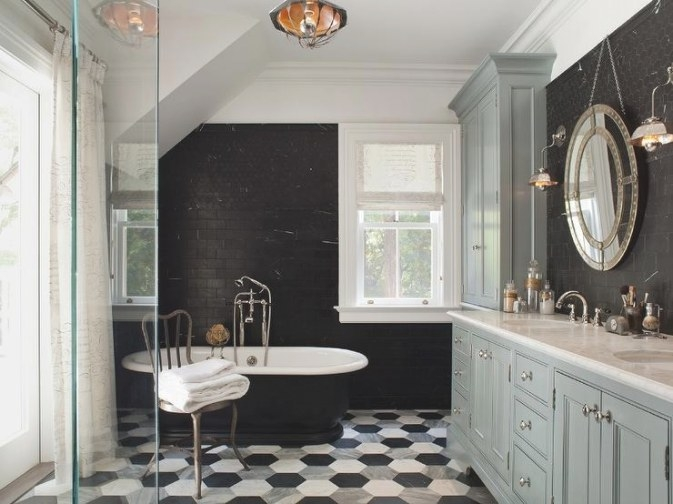 Black And Gray Bathroom - Contemporary - Bathroom - Wendy regarding Black And Gray Bathroom