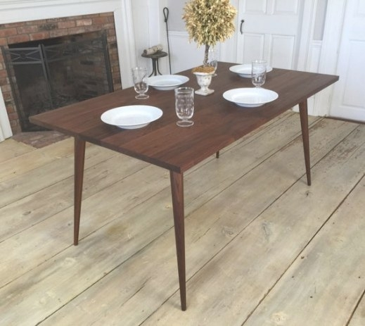 Black Walnut Dining Table Mid Century Modern Featuring in Mid Century Dining Table