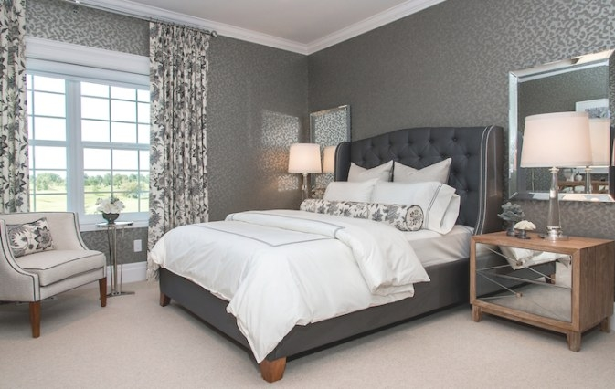 Blue And Gray Bedroom - Contemporary - Bedroom pertaining to Blue Grey And White Bedroom