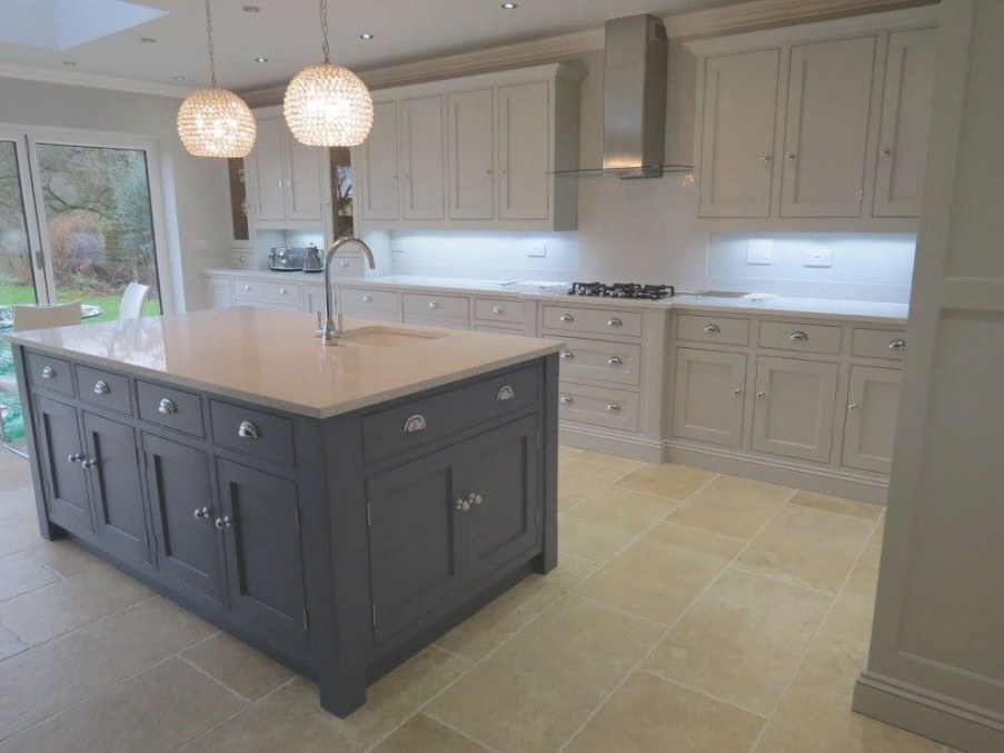 Blue And Grey Painted Kitchen – Gf Cabinet Makers with Blue And Grey Kitchen