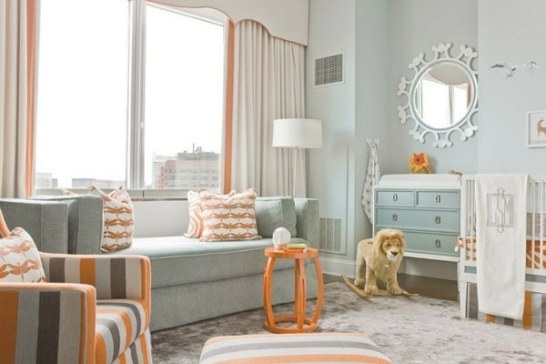 Blue And Orange Bedroom For Little Boys | Denim And Gray for Blue And Orange Bedroom