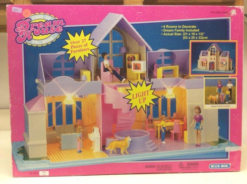 Blue-Box Light Up Dream House Doll House New! | Ebay in Light Up My Home
