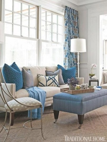 Blue Just Right | Beige Living Rooms, Living Room Designs with Cream And Blue Bedrooms