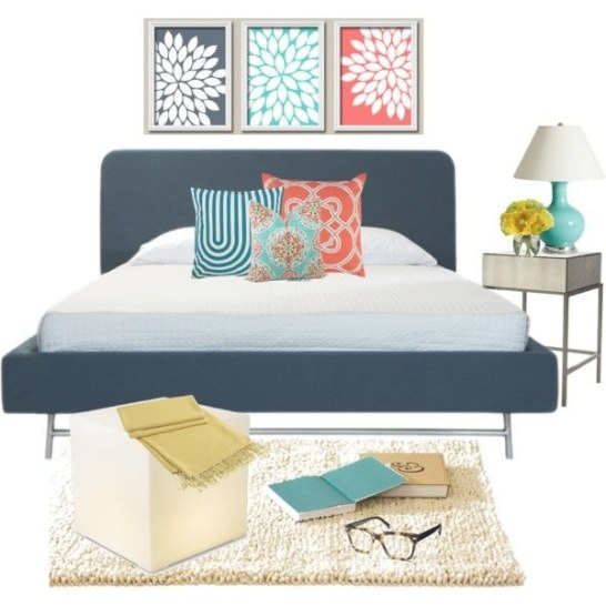 Blues Yellow Coral Bedroom | Navy Bedroom Decor, Coral inside Navy And Coral Bedroom