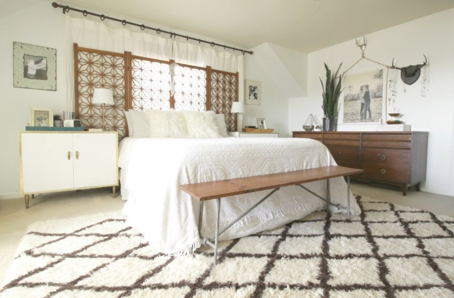 Boho Modern White And Wood Master Bedroom (And Getting A in White And Wood Bedroom