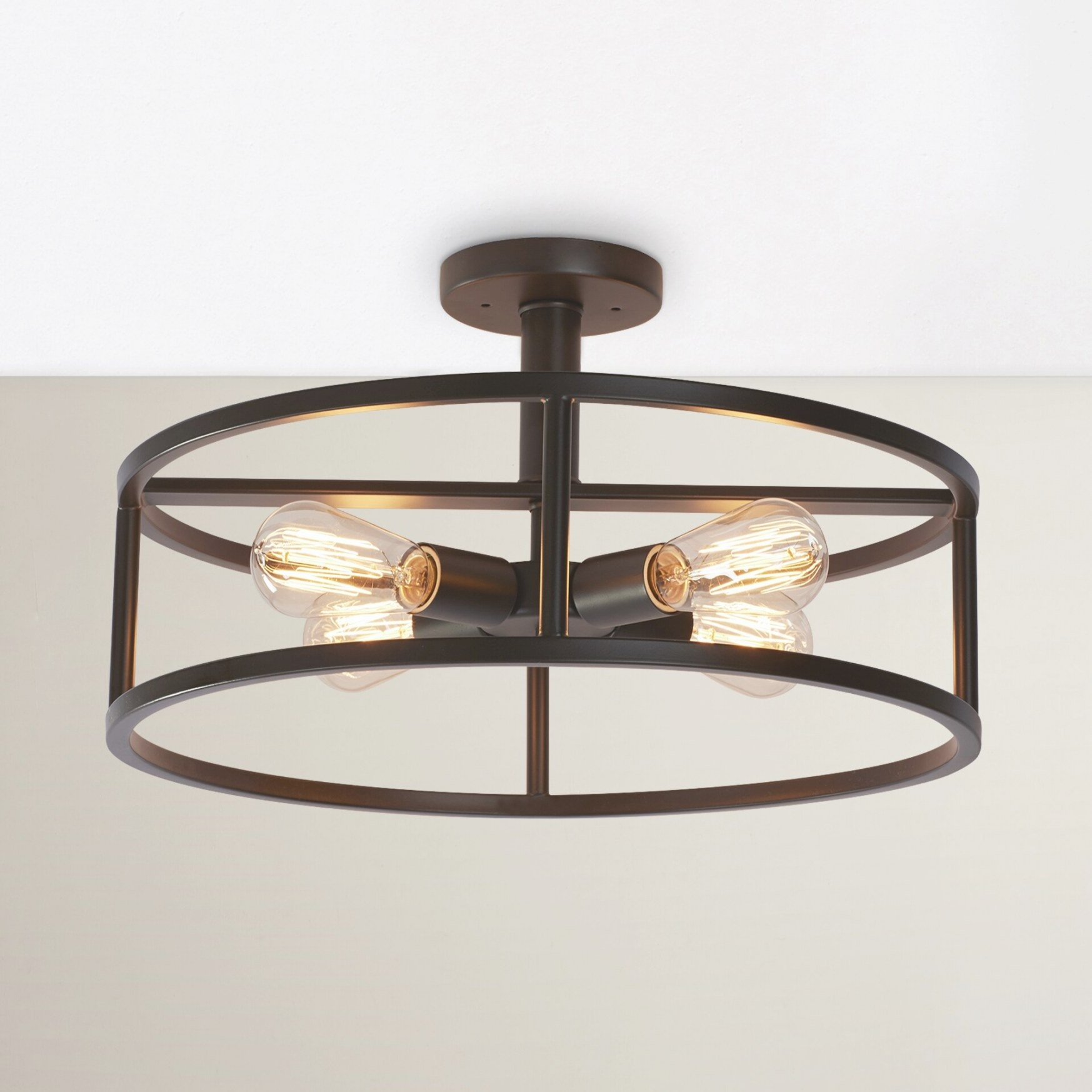 Brayden Studio Sargeant 4 Light Semi Flush Mount & Reviews pertaining to Flush Mount Ceiling Lights