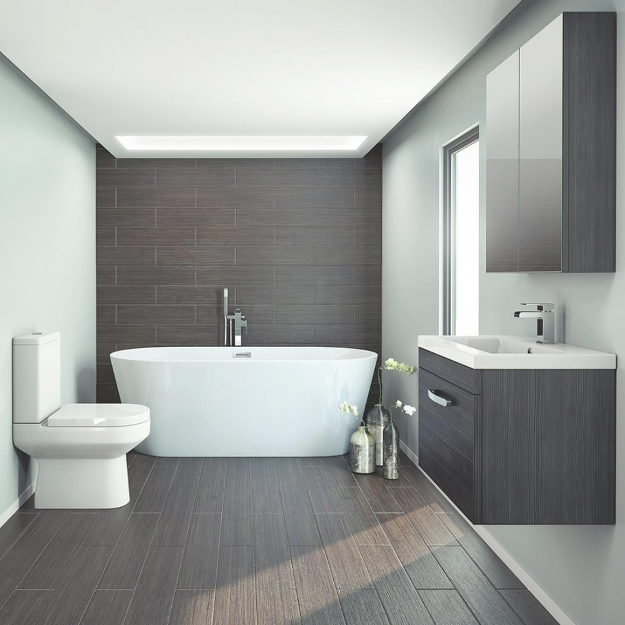 Brooklyn Black Freestanding Bath Suite | Victorian pertaining to Images Of Small Bathrooms