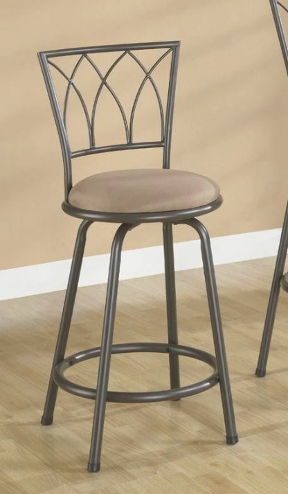 Brown Metal Swivel Counter Height Bar Stool 24 Inch for Counter Height Bar Stools
