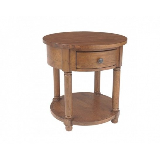 Broyhill Attic Heirlooms Brown Wood Round End Table - Free with Broyhill Lamps At Homegoods