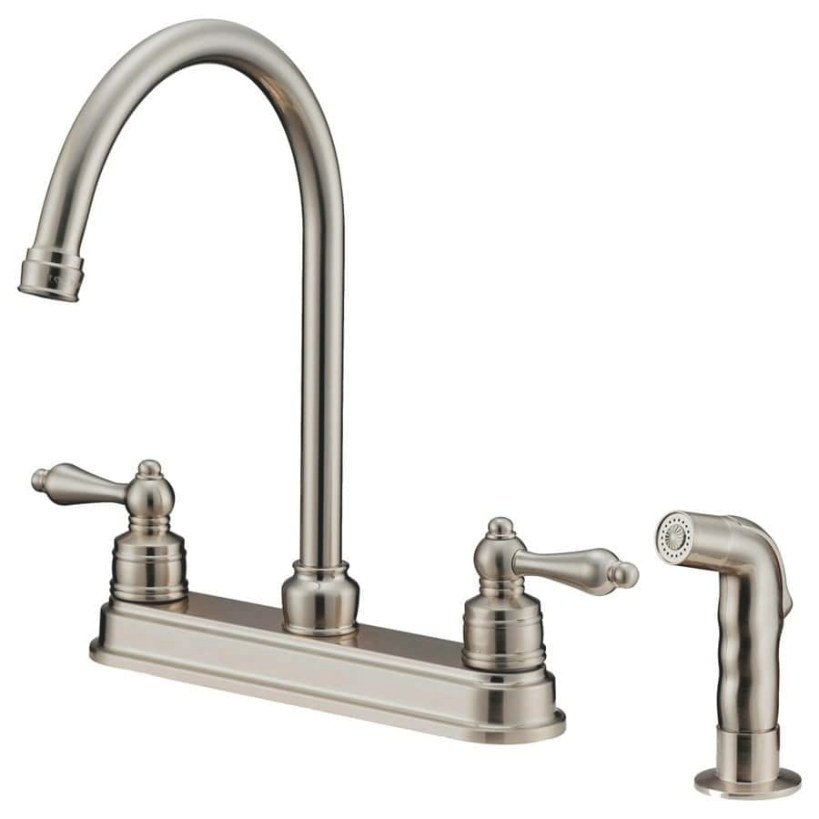 Brushed Nickel Kitchen Faucets – Loccie Better Homes within Brushed Nickel Kitchen Faucet