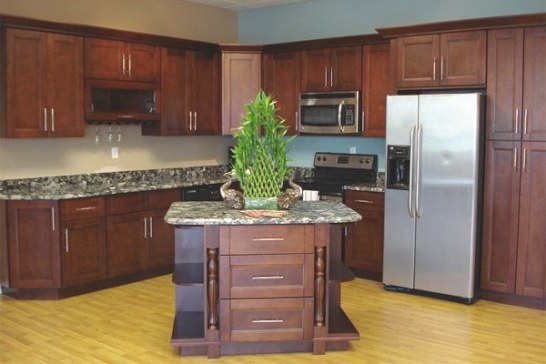 Buy Cherry Wood Kitchen Cabinets | Gec Cabinet Depot intended for Cherry Wood Cabinet Kitchens