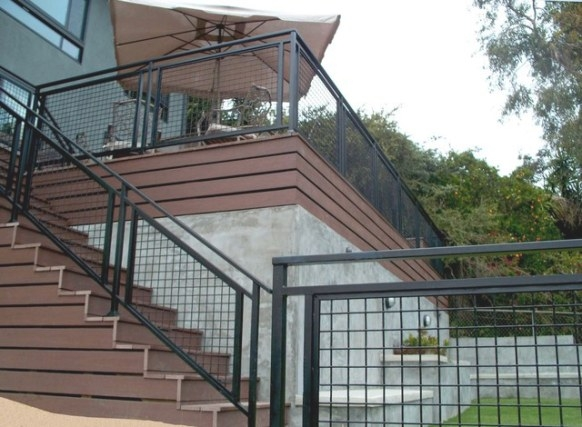 Cable Railing & Metal Railing pertaining to Hog Wire Deck Railing