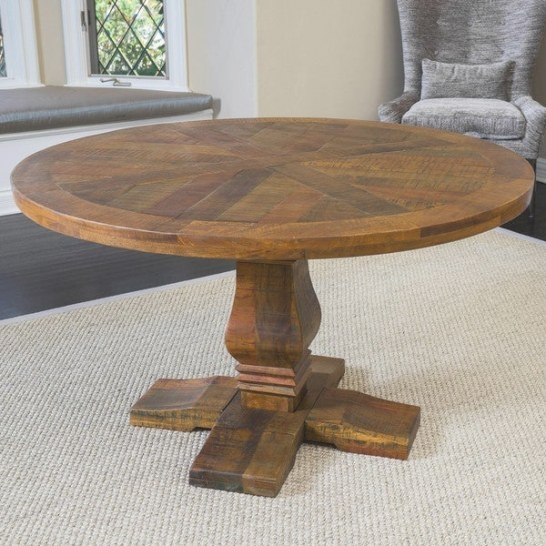 California Vintage Round Mango Wood Dining Table (Only) inside Mango Wood Dining Table