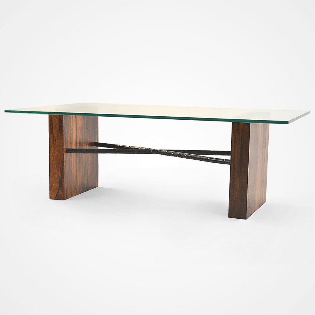 Canela Wood & Glass Top Coffee Table – Rotsen Furniture inside Wood And Glass Coffee Table