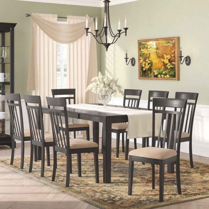 Charlton Home Smyrna 9 Piece Dining Set & Reviews | Wayfair regarding 9 Piece Dining Set