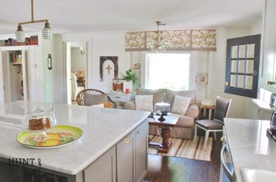 Charming Home Tour ~ Hunt And Host - Town & Country Living regarding Sitting Areas In Kitchens
