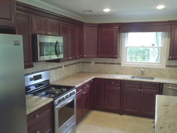 Cherry Kitchen Cabinets | Cherry Glaze Door Style within Cherry Wood Cabinet Kitchens