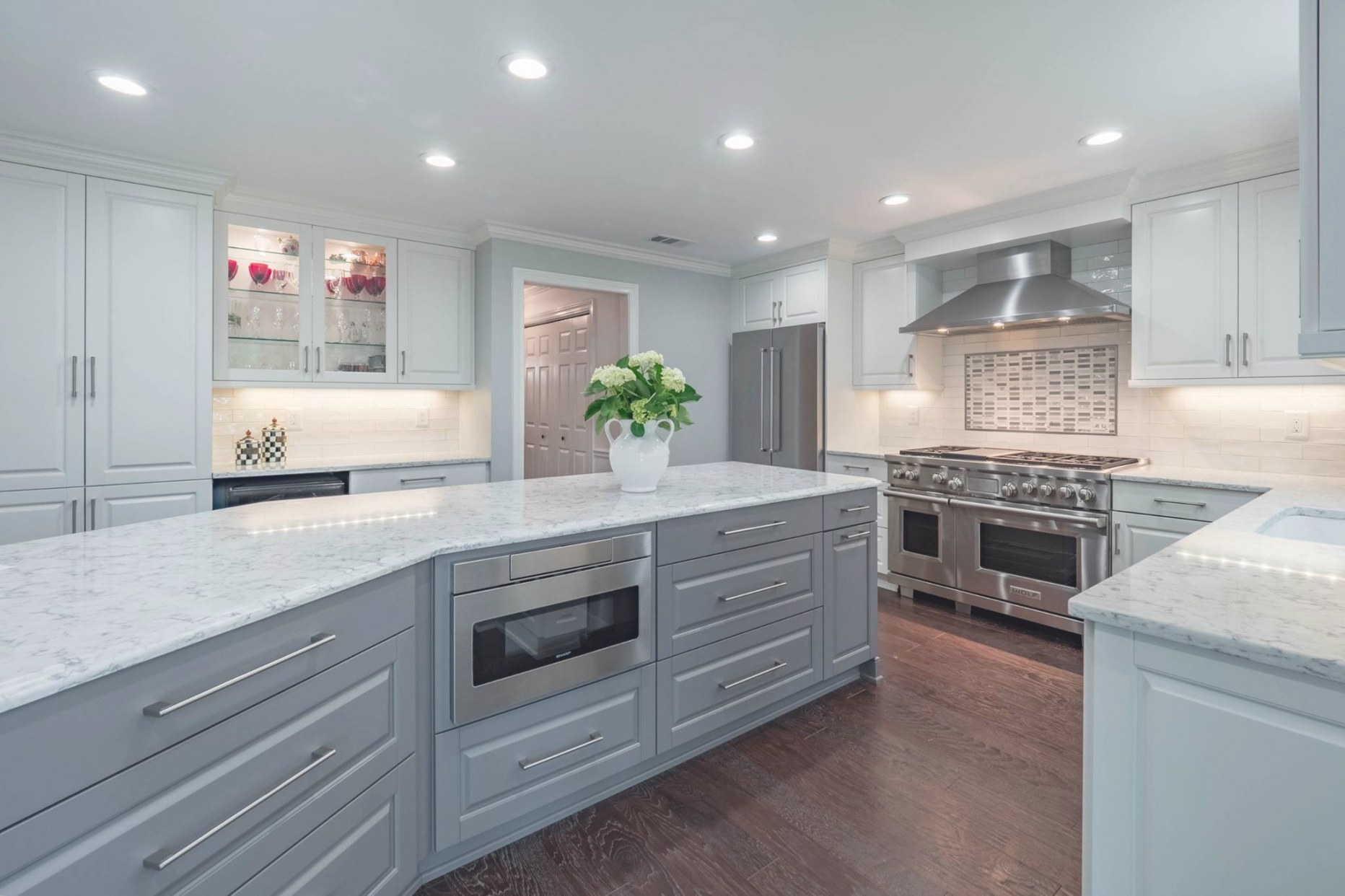 Cheryl Pett Design - Custom Kitchens & Fine Cabinetry inside White And Gray Kitchens