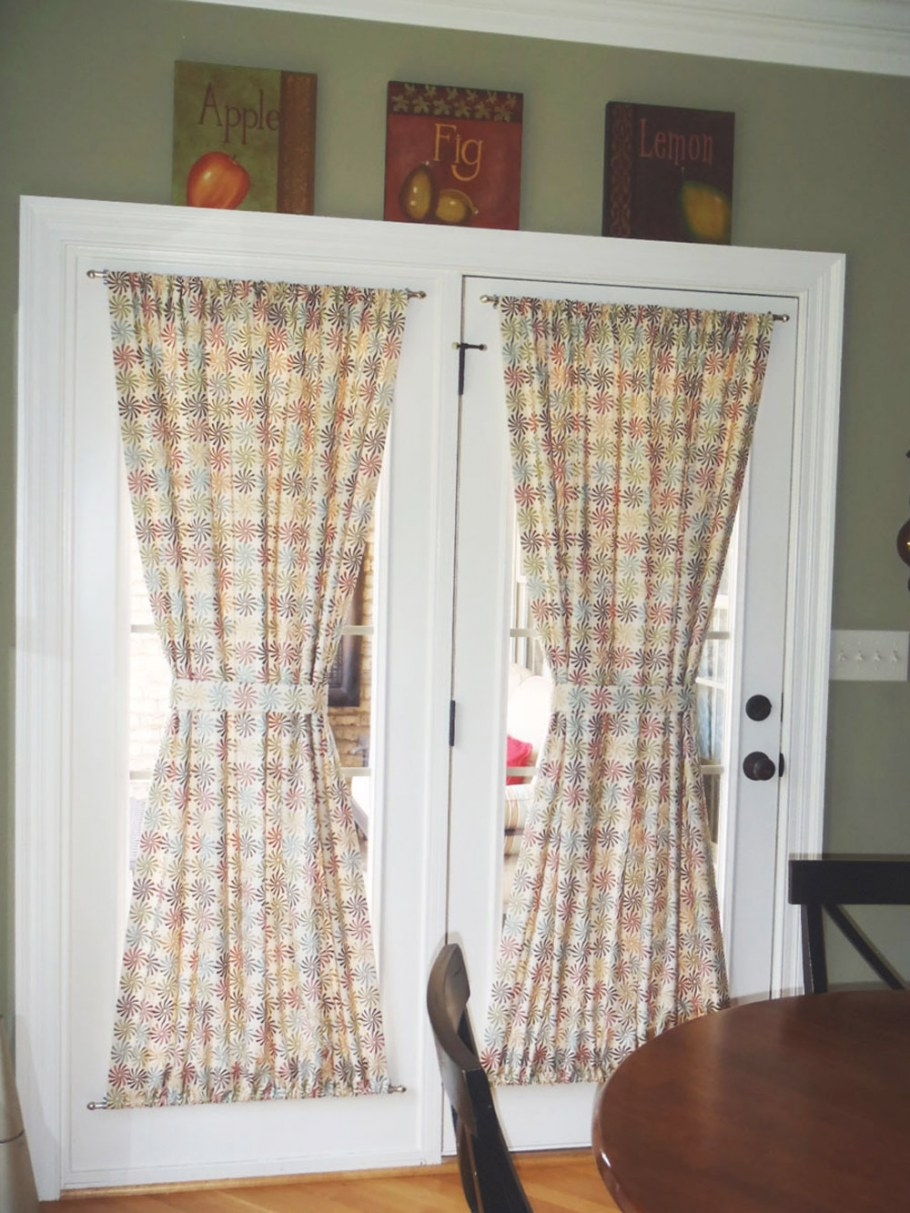 Choose The Right Window Treatment To Make Your French Door inside Curtains For French Doors