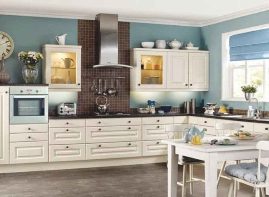 Choosing Colors For Kitchen Walls And Cabinets Teal Wall with Teal And White Kitchen