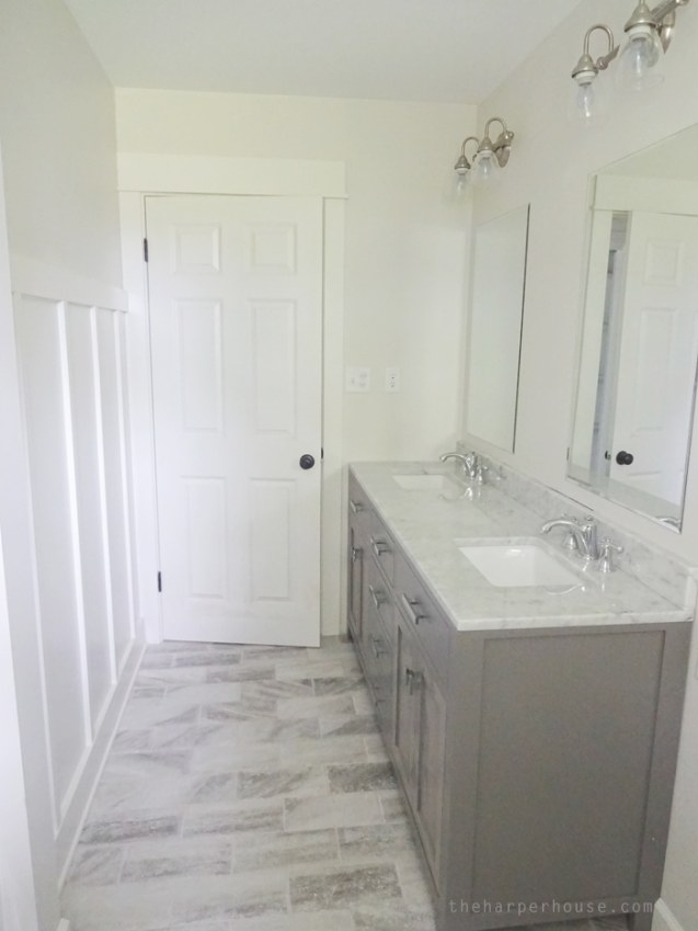 Classic Gray And White Bathroom | The Harper House pertaining to White And Grey Bathroom