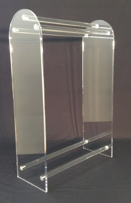 Clear Acrylic Large Free Standing Towel Rack | Ebay pertaining to Free Standing Towel Rack