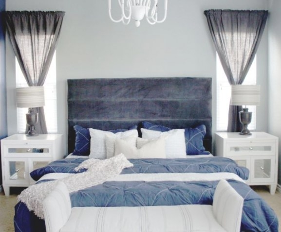 Cole Barnett: Navy Blue And Gray Master Bedroom Remodel intended for Blue Grey And White Bedroom